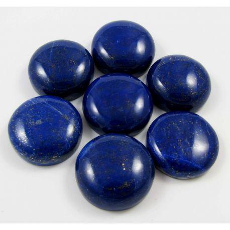 Natūralus Lapis Lazuli kabošonas, apvalios formos 25 mm iš Afganistano