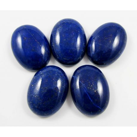 Natūralus Lapis Lazuli kabošonas, ovalo formos 30x22 mm iš Afganistano