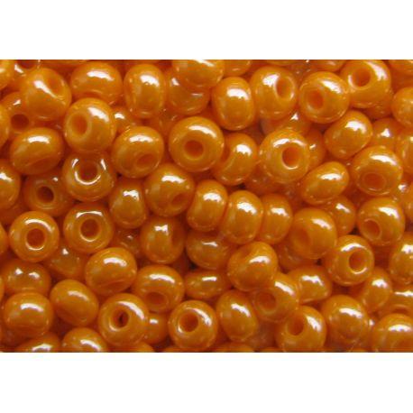 Preciosa Seed Beads (00234) pearly orange color 50 g