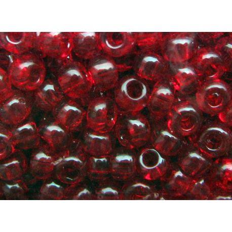 Preciosa Seed Beads (90090) transparent red color 50 g