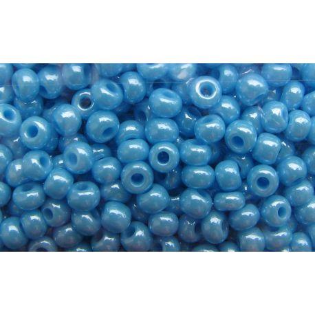 Preciosa Seed Beads (00554) pearly blue 50 g