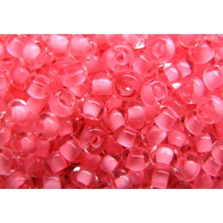 Preciosa Seed Beads (00919) transparent pink color 50 g