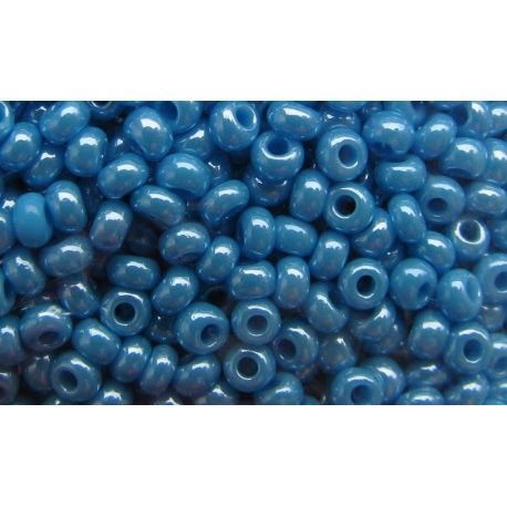 Preciosa Seed Beads (68050-11) pearly bluish color 50 g