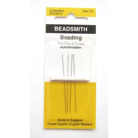 Beadsmith vėrimo adatos 4 vnt. 12 dydis