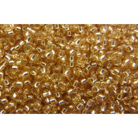 MIYUKI biseris (3) skaidrūs, aukso spalvos 15/0 5 g