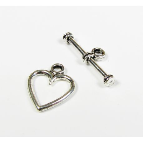 """Necklace """"Heart"""", silver 14x11 mm"""