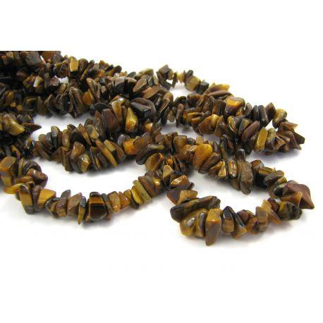 Looduslikud tiigrisilma hakkimispärlid 4,5-10 mm. 90 cm pikk