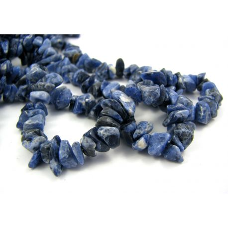 Natural sopartite chipping beads - rubble 5-9 mm. 90 cm long