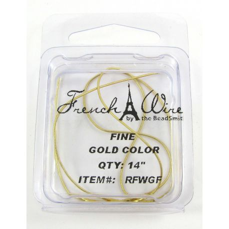 French wire, gold-plated, thickness 0.7 mm length 35.5 cm