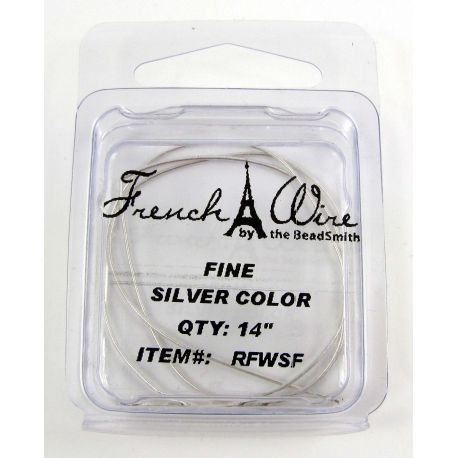 French wire, silver-plated, thickness 0.7 mm length 35.5 cm