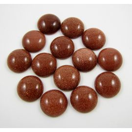 Sun stone cabochon, brown 12 mm