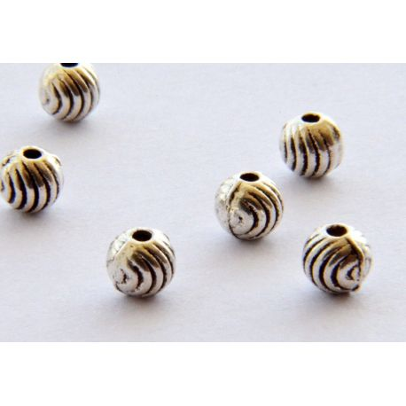 Insert for the manufacture of jewelry aged silver round shape 4mm
