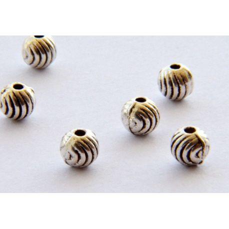 Intarpas skirtas papuošalų gamybai sendinto sidabro spalvos apvalios formos 4mm