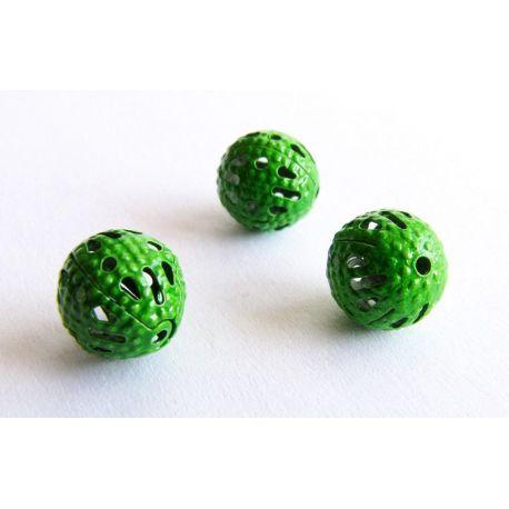 Intarpas skirtas papuošalų gamybai žalios spalvos apvalios formos 8mm