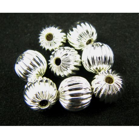 Insert for the manufacture of jewelry silver color round shape 8 mm