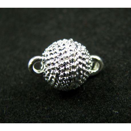 Magnetic necklace, silver, 8 mm, 1 pcs.