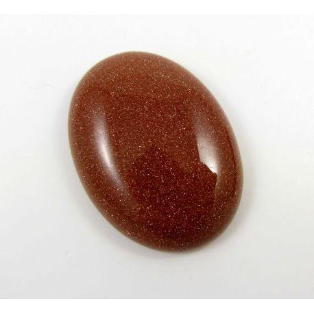 Solar stone cabochon, brown 40x30 mm