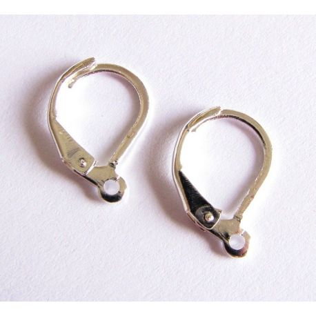 Hooks for the manufacture of earrings silver English clasp 16x9mm