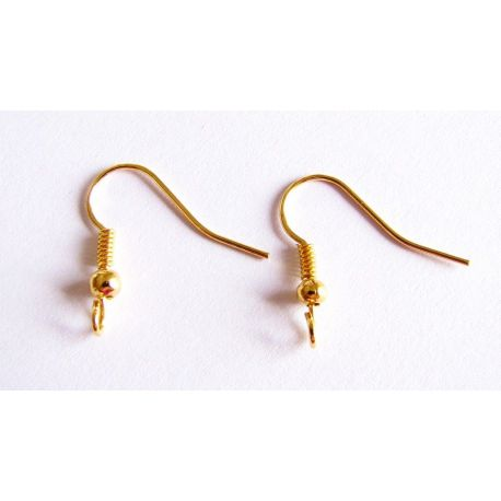 Hooks for the manufacture of earrings gold color 20x17,5mm