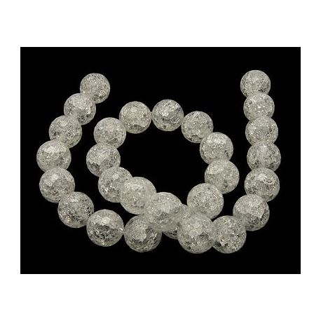 Rhinestone beads, ribbed with 128 ribs, pounded 14 mm