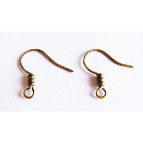 Kabliukai skirti auskarų gamybai bronzinės spalvos 23x15,5mm