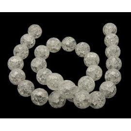 Rhinestone beads, ribbed with 128 ribs, pounded 12 mm