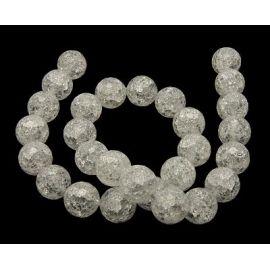 Rhinestone bead thread, ribbed with 128 edges, 10 mm