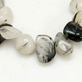 Rutilo quartz beads strand