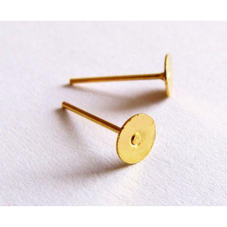Konksud kõrvarõngaste valmistamiseks kuldnael 11x5mm