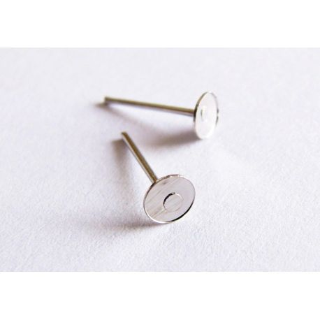 Hooks for the manufacture of earrings nickel nail 11x4mm