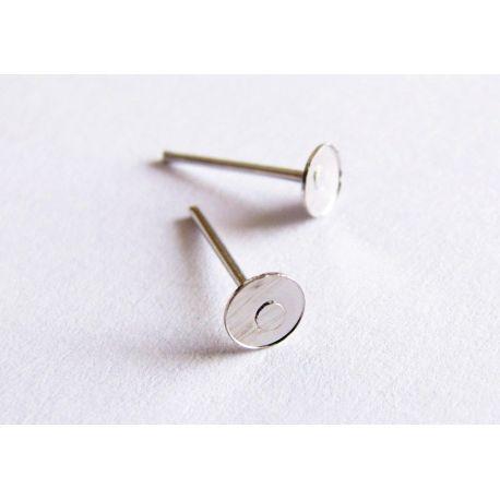 Kabliukai skirti auskarų gamybai nikelio spalvos vinukas 11x4mm