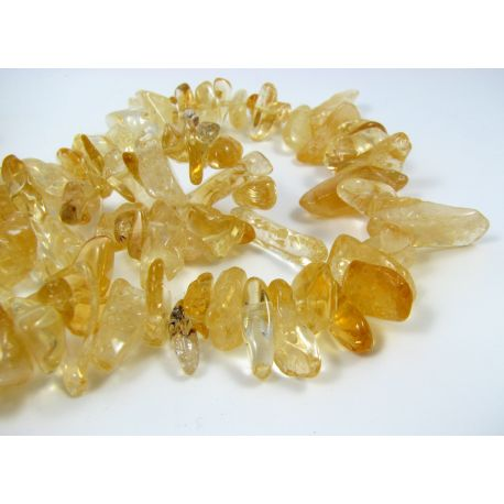 Natural lemon coarse chipping thread, gold, 15-24 mm. 40 cm long