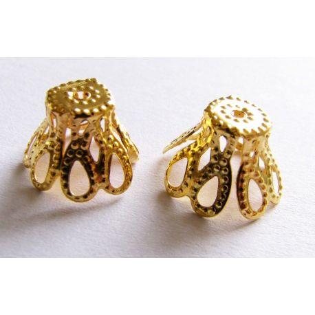 Kepurėlė papuošalų gamybai aukso spalvos 7,5x11,5mm