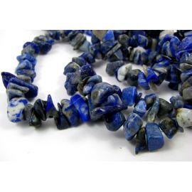 Lapis Lazuli šķembu pavediens8x6 mm 90 cm