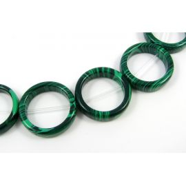 Synthetic malachite beads in the form of a green ring, 20 mm