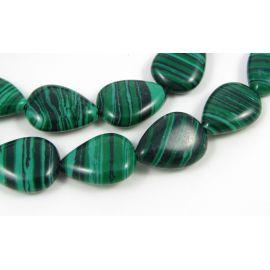 Synthetic malachite beads 17x12 mm