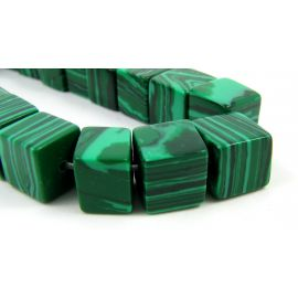 Synthetic malachite beads 8 mm