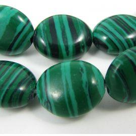 Synthetic malachite beads 12x8 mm