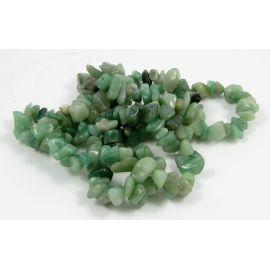 Looduslikud avutriini killustiku helmed - killustik, roheline, 17x9 mm