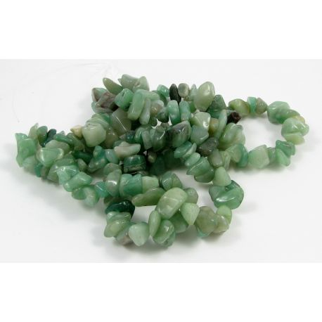 Natural avutrin rubble beads - rubble, green, 17x9 mm