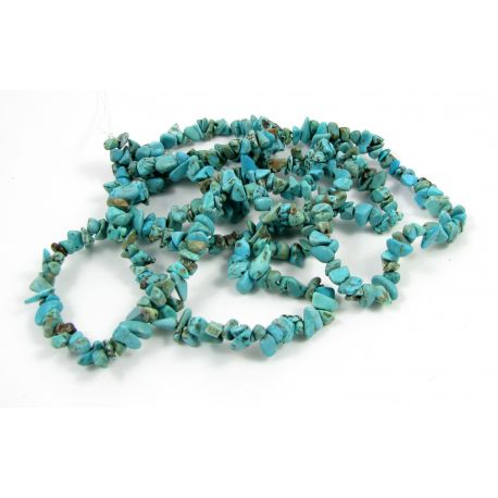 Turquoise chipping beads - rubble, light green, 5x5 mm