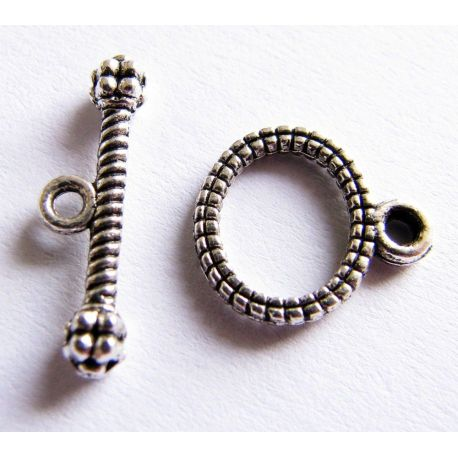 Clasp aged silver color 10x12mm