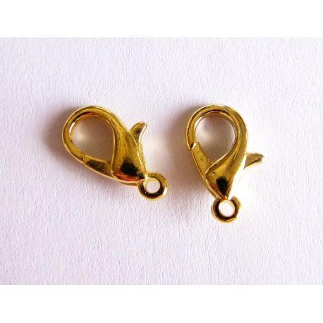 Užsegimas pakabukui, grandinėlei, virvutei, apyrankei aukso spalvos 12 mm