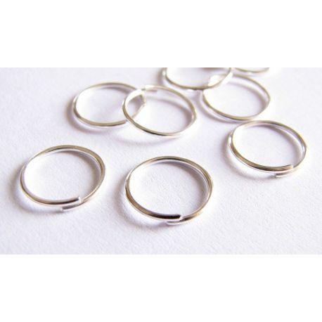 Single rings for the manufacture of jewelry silver color 10 mm