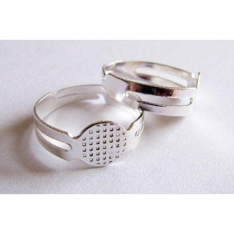 Ring base nickel color adjustable size 8mm
