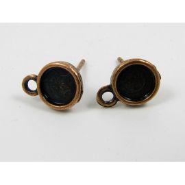 Hooks - earrings, aged copper, size 13x8 mm