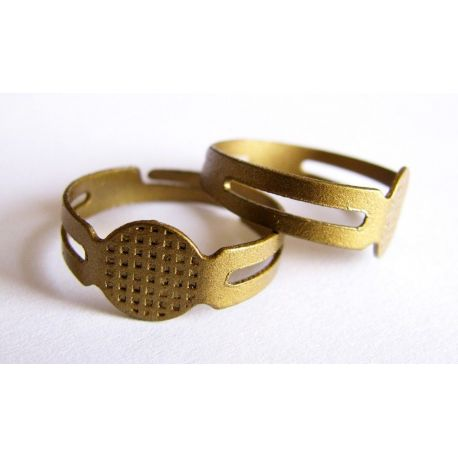 Ring base bronze color adjustable size 8mm