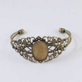 Brass bracelet for cabochon 18 cm