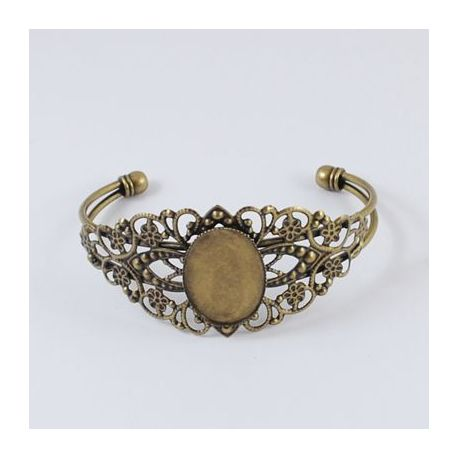 Brass bracelet for cabochon, bronze, size apponymoal apponymos 67 mm