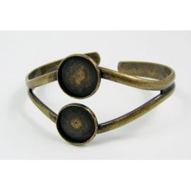 Brass bracelet for cabochons, bronze, size about 17 cm